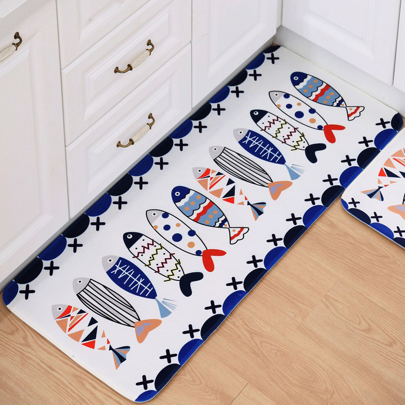 Anti slip carpet mats bathroom toilet door mat coral for House floor mat philippines