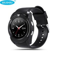 V8 Cámara Pasómetro Bluetooth reloj Inteligente Reloj Hombres Mujeres Reloj Inteligente Para Android Teléfono PK DZ09 A1 U8 Smartwach GT08