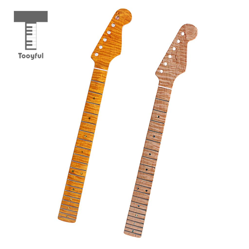 Guitar Neck 21 Fret Maple Fingerboard Replacement for Strat Tele Electric Guitar yibuy 6 string electric guitar neck black gloss fingerboard 22 fret maple page 7