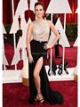 12224W Oscar Keltie Knight Celebrity Dresses Red Carpet Sexy Beaded Bodice Formal Dress Side Split Cut Backless Prom Dresses