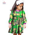 2017 African Women Clothing kids dashiki Traditional cotton Dresses Matching  Africa Print Dresses Children Spring BRW WYT01