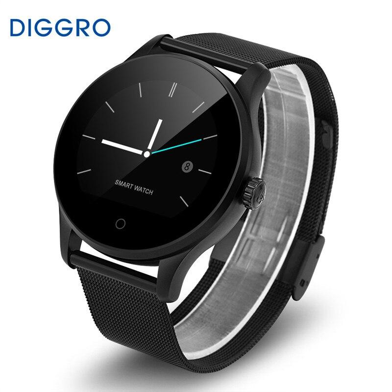 Diggro K88H Bluetooth Frecuencia Cardíaca Monitores función Siri polvo IP54 impermeable reloj inteligente podómetro call/SMS sueño Monitores