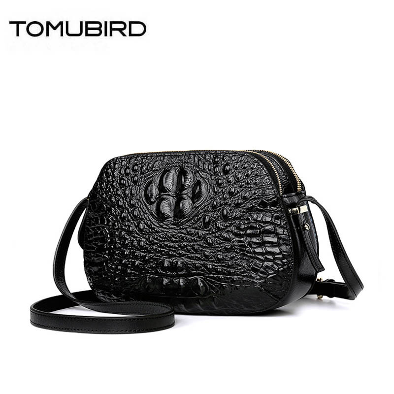 TOMUBIRD 2020 new Cowhide women genuine leather bag Crocodile pattern crossbody bags for  women genuine leather handbags