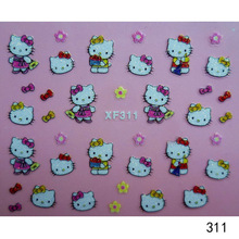 free shipping Fashion Hot Sale 3D Cute Cat Pattern Drecorate Nail Art Manicure Tips Paper Stickers