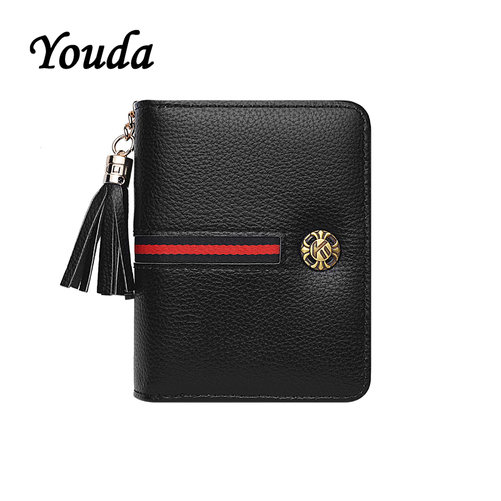 Youda New Ladies Purses Short Wallet Organ Purse Portable Large Capacity Card Holder Classic Fashion Style Women's Wallets(China)