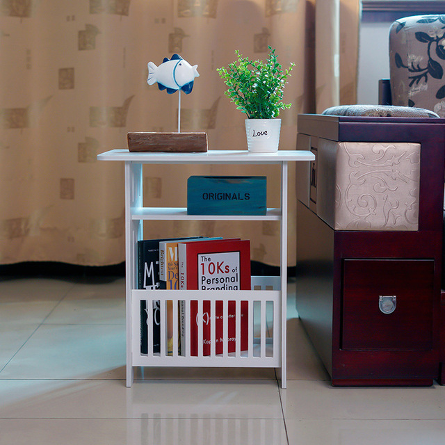 Multifunctional 3 Layer Mini Storage Rack Living Room Bookcase Coffee Table  Bedroom Nightstand Commodity Shelf