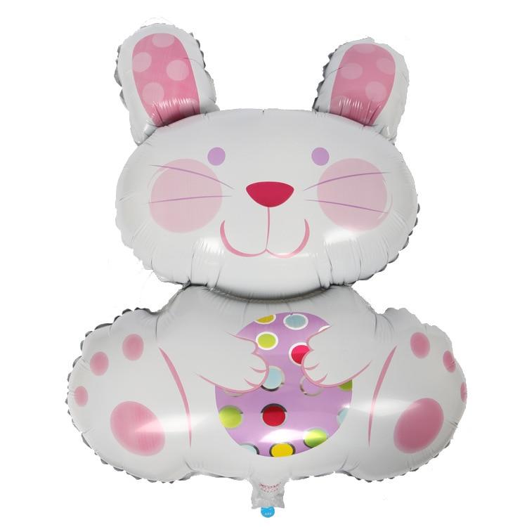 20pcs lot Big Size Cartoon Rabbit Foil Easter Balloons wholesale balao Kids Birthday Party supplies Decoration