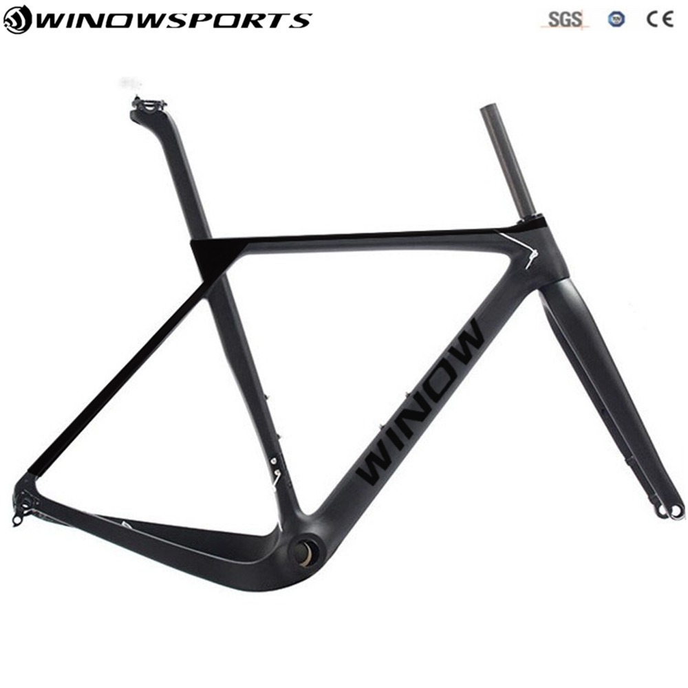 2018 New Design Gravel Frame Bicycle Frame Road Bike 142x12mm Disc Brake Cyclocross Gravel Carbon Bicycle Frame