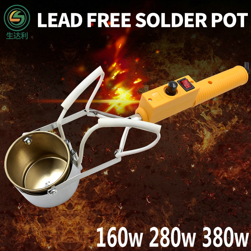 Ray Daly 160W 280W 380W Melting 450C Electric Portable Solder Furnace Lead Free Solder Pot 110V/220V