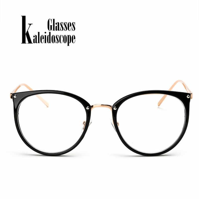 ed605fbfc4 Kaleidoscope Glasses Men Women Big Round Eyewear Frame Metal Legs Oversized  Eyeglasses Frames ransparent Optical Spectacle