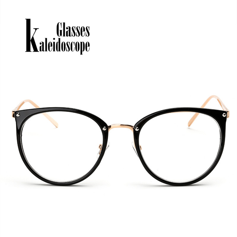 Large Round Spectacles Frame Metal Legs Oversized Glasses frame ...