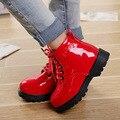 Детская обувь осень/зима 2016 детей Корейской версии Мартин сапоги кожаные непромокаемые сапоги для мужчин и женщин сапоги