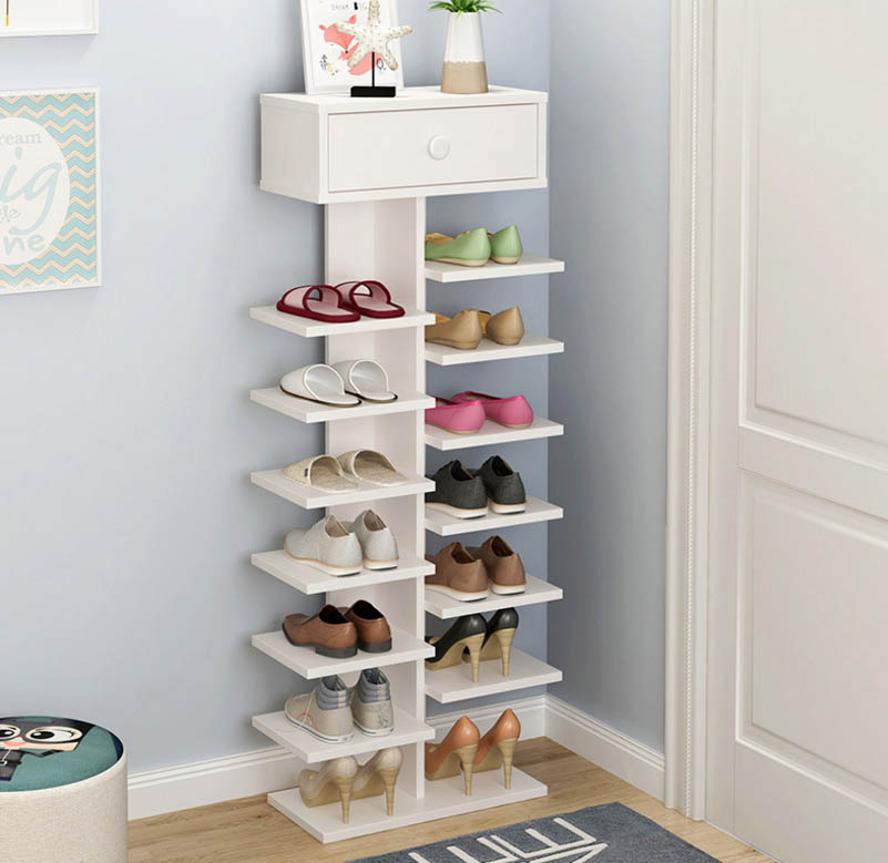 Multi-function Withdrawer Multilayer Household Practical Shoe Cabinets Storage Rack Living Room Shoebox Shoes Organizer Furnitue 1208s simple iron shoe rack multilayer living room removable storage finishing metal shelves