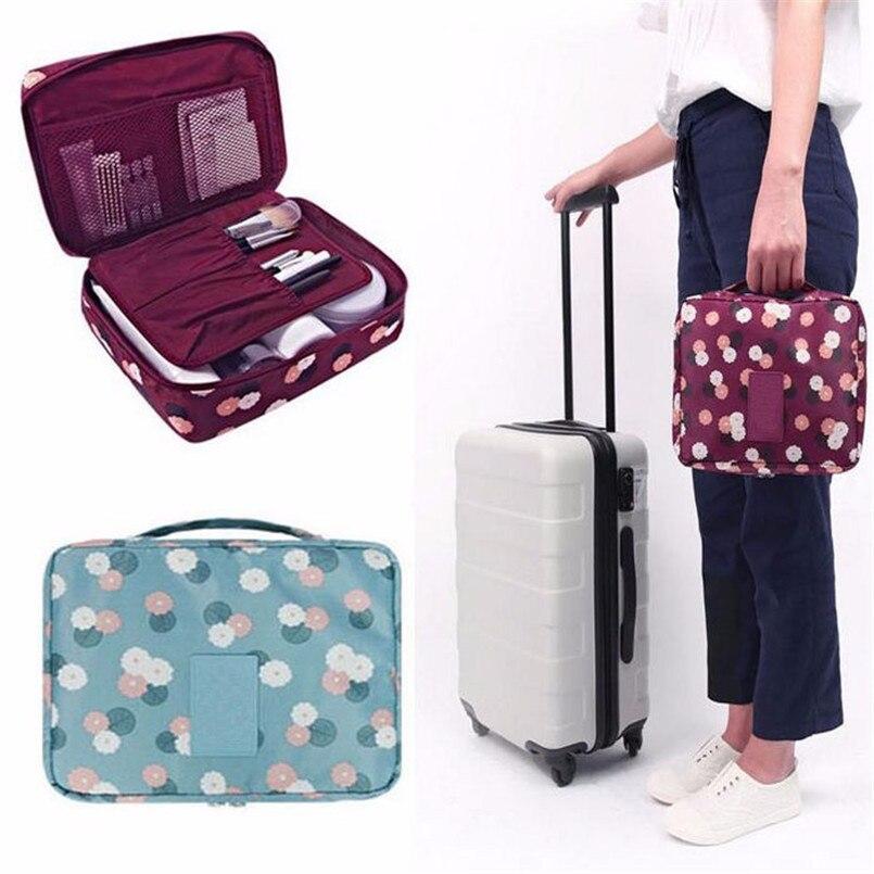 Storage Bags Travel Cosmetic Makeup Toiletry Case Bag Wash Organizer Storage Pouch Handbag 2018 drop shipping