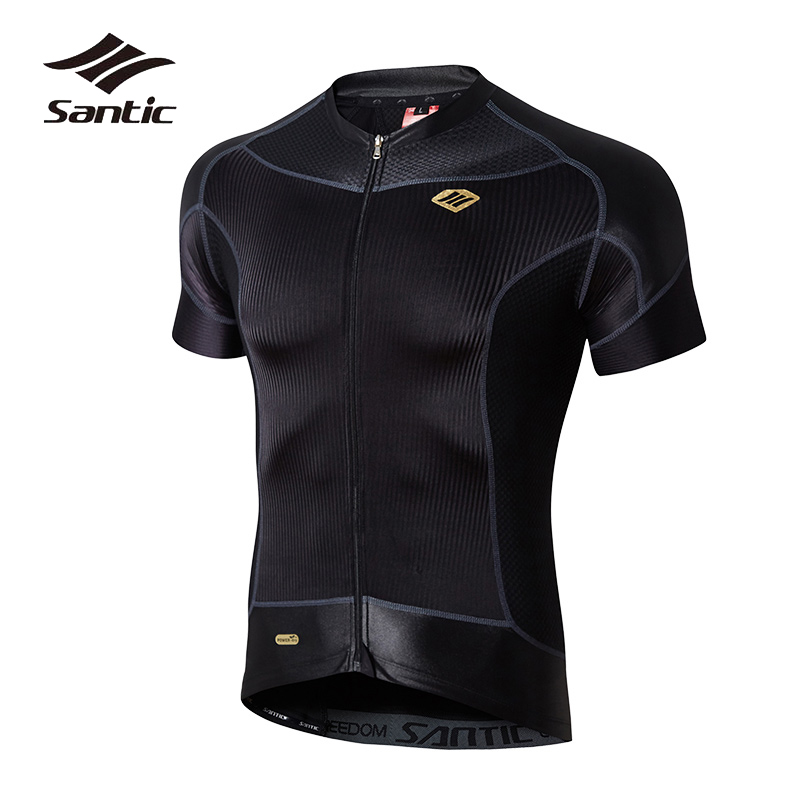 2018 SANTIC Cycling Jersey Men Pro Team Cool Bicycle Jersey Short Sleeve Breathable Mountain Road Bike Jersey Cycling Clothing santic cycling clothing women short sleeve breathable cycling jersey sets padded road mountain bike shorts 2018 bicycle clothes