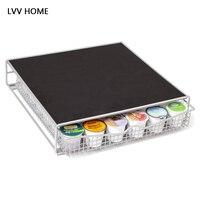 LVV дома металла кофе капсула шкафа хранения/36 Сетка ящика Тип кофе инструмент организации кухонной полки