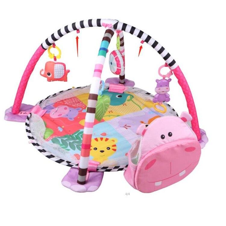 3 en 1 bébé tapis de jeu rond tortue Lion ramper couverture infantile tapis de jeu tapis de jeu enfants tapis d'activité Gym pliant Tapete Infantil - 5