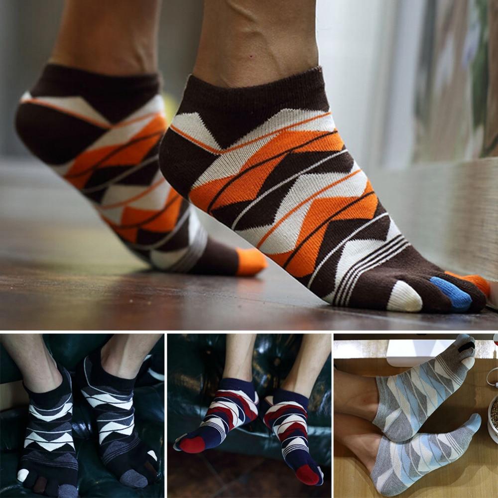 1Pair Men Women Unisex Socks Cotton Five Finger Socks Toe Socks Men Accessories 4 Colors