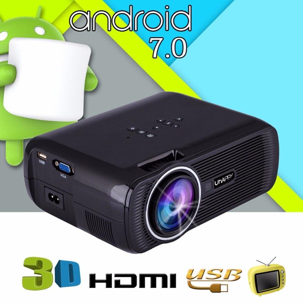 2018 New Home Projectors Theater Lcd 1080p Hd Multimedia: New U80 Mini Projector Bluetooth WIFI HDMI LCD Home