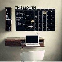 % Наклейка на стену в этом месяце календарь стена на доске наклейка s резные торговые взрывы шт. черная доска стикер s офисные принадлежности