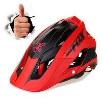 new molding bike helmet ultra light bike helmet high quality mtb bike helmet casco ciclismo Red color BAT FOX DH AM