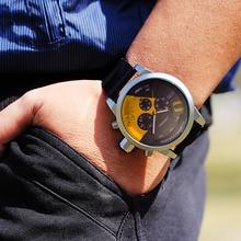 Для мужчин s часы Топ Элитный бренд для мужчин резиновые спортивные часы SINOBI Кварцевые хронограф часы водонепрониц