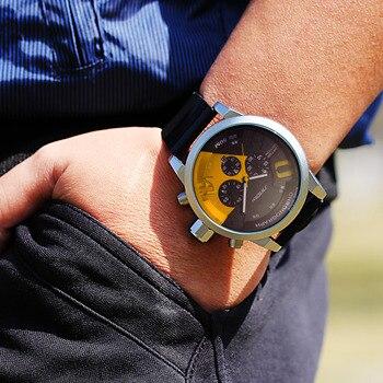 aa709133c949 Relojes Para Hombre de marca de lujo de los hombres de deportes relojes  SINOBI los hombres de cuarzo de cronógrafo reloj militar resistente al agua  reloj de ...
