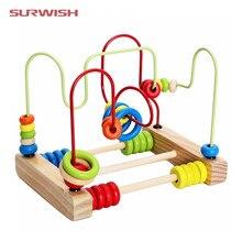 Surwish подсчета круги шарик счеты Провода лабиринт, горки деревянный монтессори игрушка для малышей Chilrden
