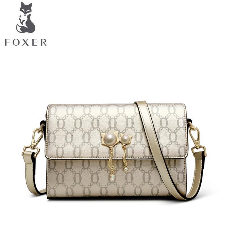 FOXER brand bag 2018 new wave Korean version of the wild Messenger leather handbag Fashion autumn and winter shoulder bag