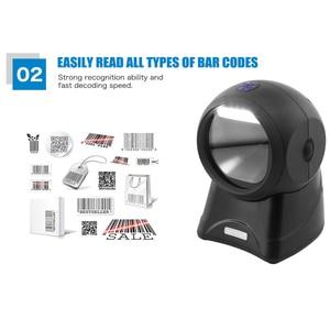 Image 3 - NETUM Laser Flatbed Barcode Scanner 20 Lines Desktop Omnidirectional Bar Code Reader Platform for Pos System Supermarket