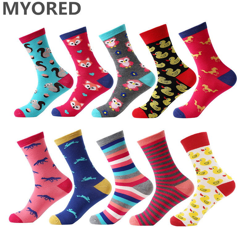 Yeadu 12 Colors Harajuku Women&mens Socks Cotton Funny Cute Novelty Dress Crew Sock Suitable For Men And Women Of All Ages In All Seasons Underwear & Sleepwears