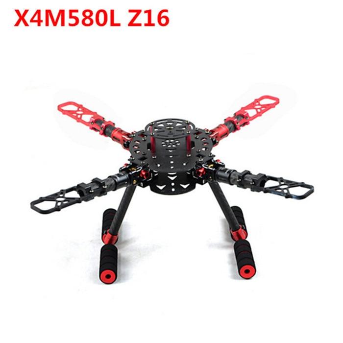 X4M350L X4M500L X4M580L Z16 350 500 580mm Wheelbase Foldable 4axis Frame/ Rack Quadcopter Carbon Fiber w/landing gear Frame h4 4axis 660mm foldable carbon fiber alien quadcopter frame kit page 2