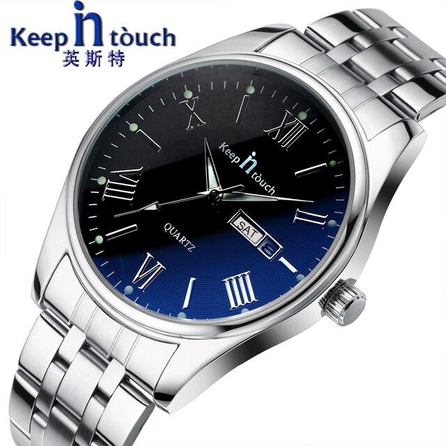 KEEP In Touch Men's Quartz Wristwatches Luminous Hands Business Calendar Watch M
