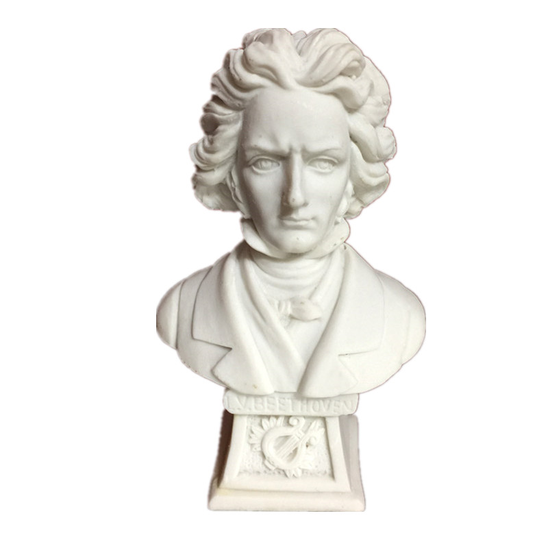 Beethoven Statues & Sculptures Resin Crafts Western Classical Europe Style Ornaments Home Decoration Accessories R465