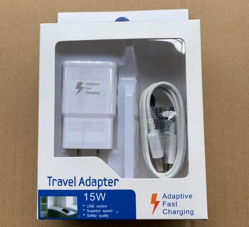 50Set High Quality US EU Fast Charging Wall Adapter 1 2M Micro Usb Data Cable For