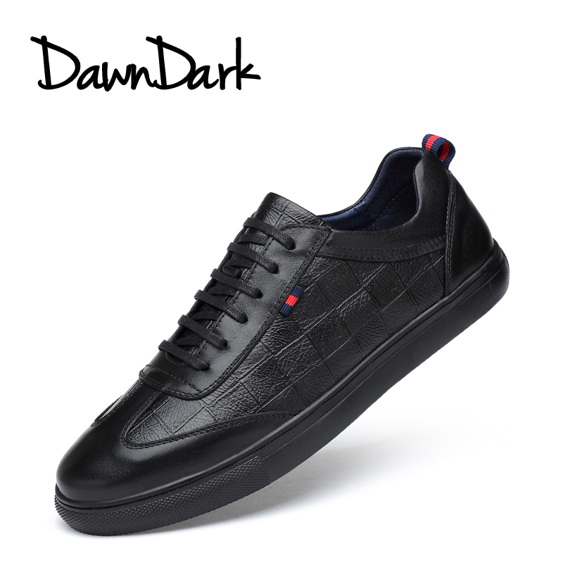 Casual Men Shoes Leather Comfortable Male Flat Brand Luxury Shoe Black White Spring Autumn Man Walking Sneakers Fashion Big Size