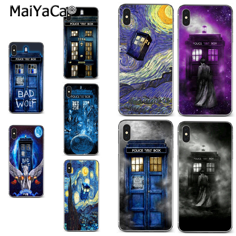 Selfless Maiyaca Tardis Tenth Doctor Dr Who In Space Purple Colorful Cute Phone Case For Iphone 8 7 6 6s Plus X Xr Xs Max 5s Secase Half-wrapped Case Cellphones & Telecommunications