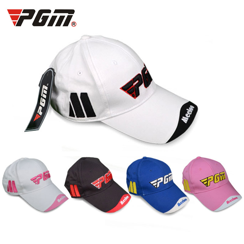 PGM  Men Golf Colorful Cap Cotton Letter Summer Breathable outdoor Man's Sports Caps One Size Golf Hat