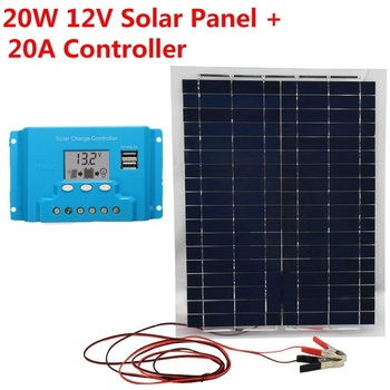 20W 18V Solar Panel IP67  Sun Power Cell 1.12A Emergency Power supply Solar Panel Polysilicon Sun Panel With Solar Controll