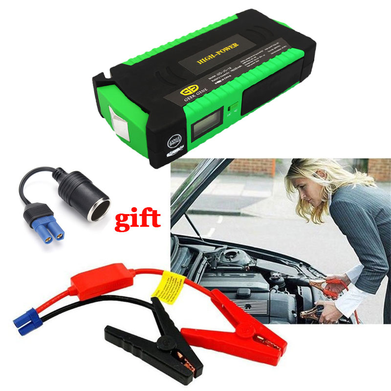 Car Jump Starter 600A Peak 16000mAh Portable car charger Battery Pack 12V Emergency Starter Power Bank Starting Device Diesel 6l petrol 4l diesel 74000mwh car jump starter 800a peak car battery power pack 12v auto charger portable starting device bank