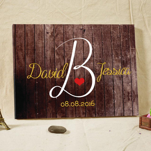 Wedding Decorations Rustic Wedding Guestbook Welcome Boards Canvas