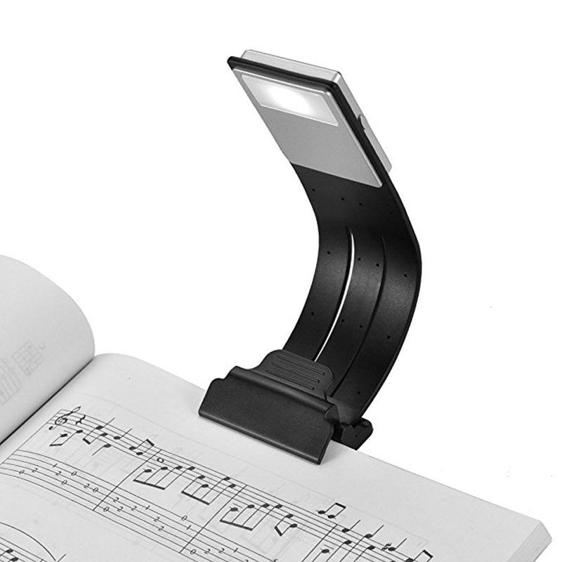 Lâmpada de leitura recarregável do diodo emissor de luz de usb para o cuidado dos olhos da cama dobro como o bookmark desk & bed lamp flexível para kindle, livro, ipad