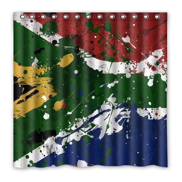Luxurysmart South Africa Flag Shower Curtains Custom Design Creative