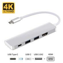 Dex Station Samsung için USB C HDMI 4 K Adaptör TIPI C Hub Galaxy Note9 8 S10 S8 artı MacBook 2016 Tip c Yerleştirme Istasyonu