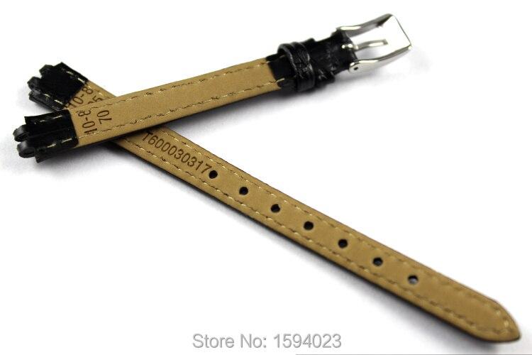 10mm (Spænde8mm) T058009 T-TREND Høj kvalitet Sølvspænde + sort - Tilbehør til ure - Foto 2