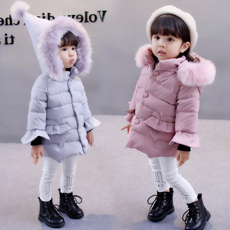 ef5b105a1 Cute Baby Coat 2018 Winter Jacket for Baby Girls Hooded Cotton Coats ...