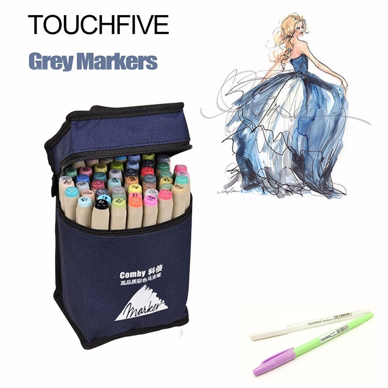 Touchnew 80 Colors Drawing Art Markers Pen Set Oily Alcoholic Dual Headed Sketch Markers Animation Manga Design touchnew 30 40 60 80 color art markers set material for drawing alcoholic oily based marker manga dual headed brush pen