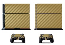 Golden Carbon Fiber PS4 Skin PS4 Sticker