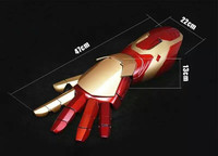 Movie Figure Iron Man MK43 1/1 Cosplay Movable Wearable Arm Glove with Launch Sound Laser Weapon LED ABS Action Figure toys