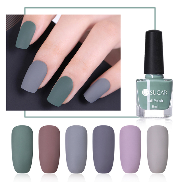 Ur Sugar 6ml Matte Nail Art Polish Pure Color Varnish Manicure Lacquer Purple